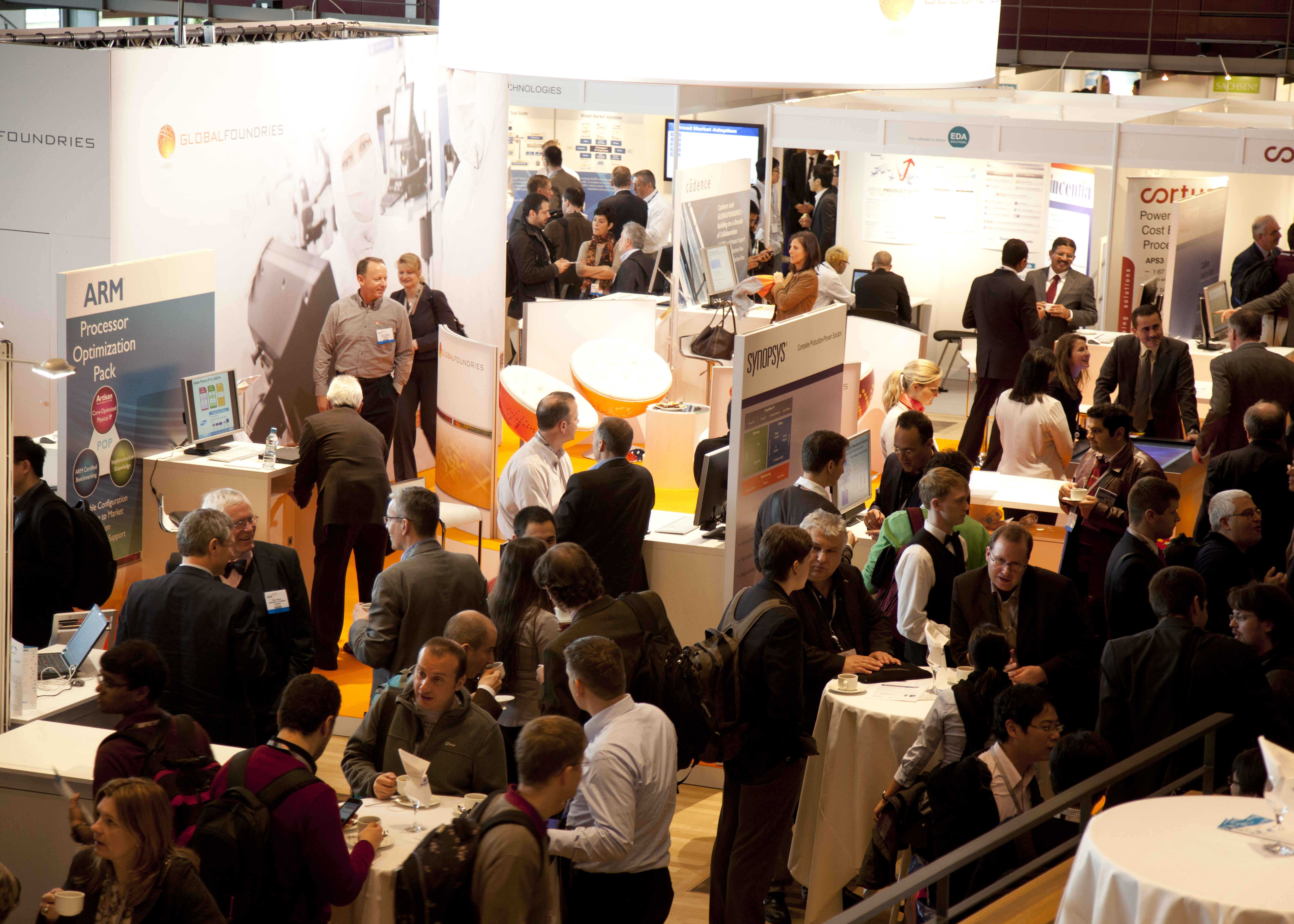 The exhibition at DATE 2012, Dresden, Germany