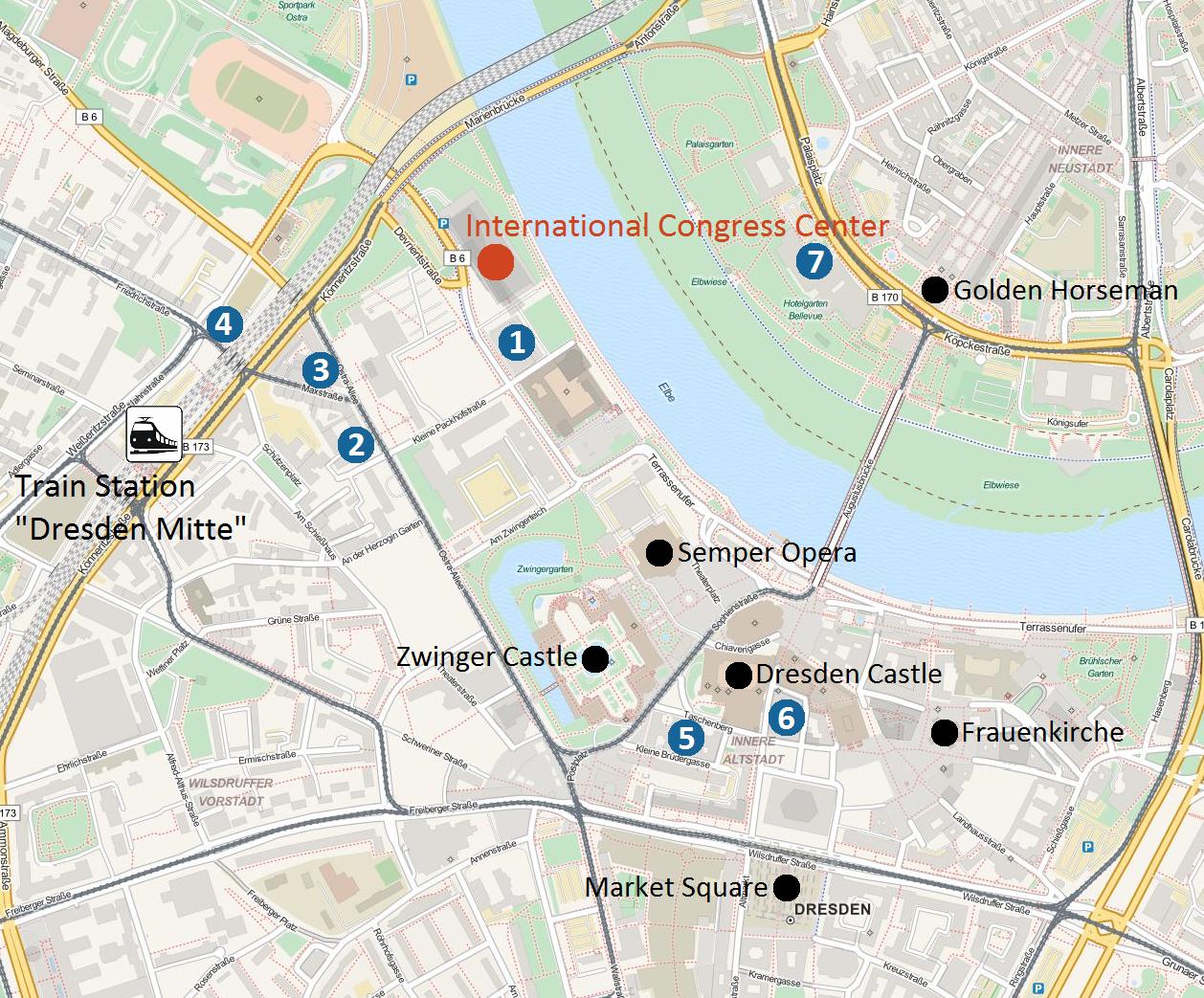 DATE 2018 Hotel map