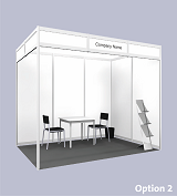 Example of Standard Shell Scheme Booth (Click to enlarge)