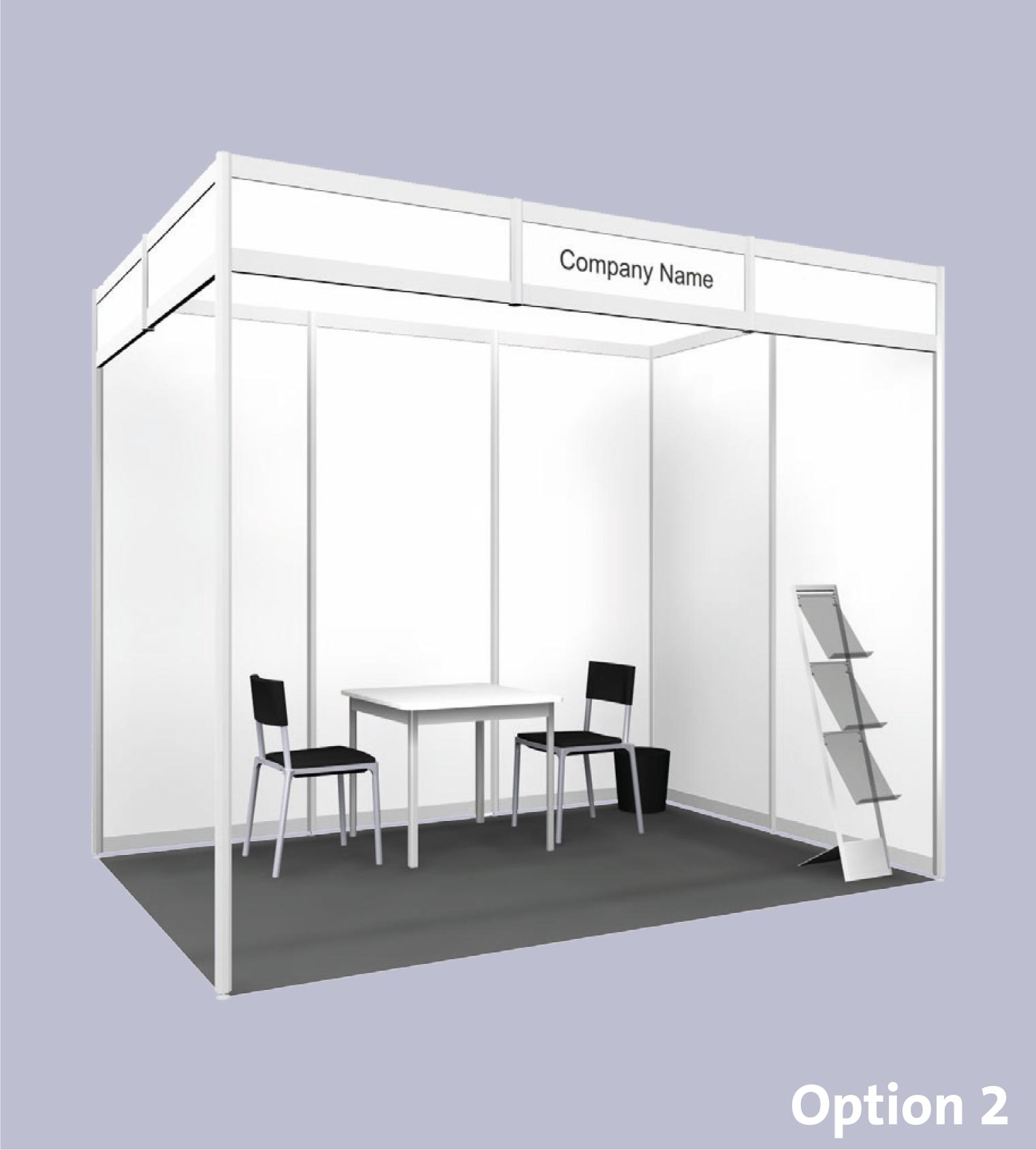 Exhibition Booth Standard Shell Scheme : Exhibition date 2019